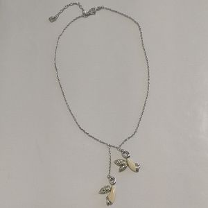 """🇨🇦 Authentic Swarovski """"Two Angels"""" necklace"""